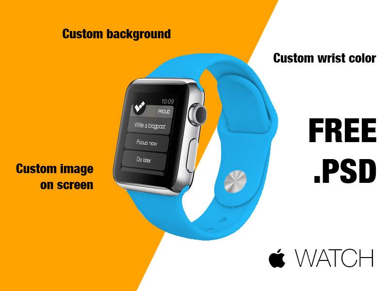 Free Apple Watch Mockup PSD Kit