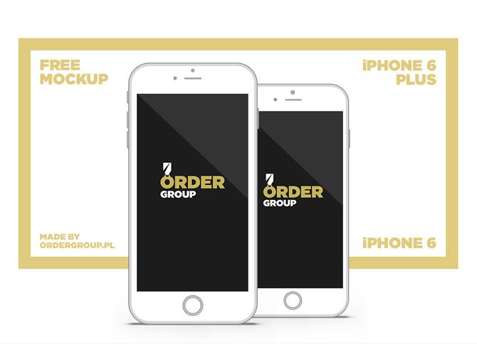 Free Apple iPhone 6 Flat PSD Mockup