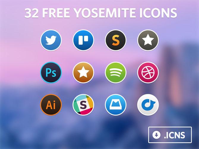 Free Yosemite Icon Set