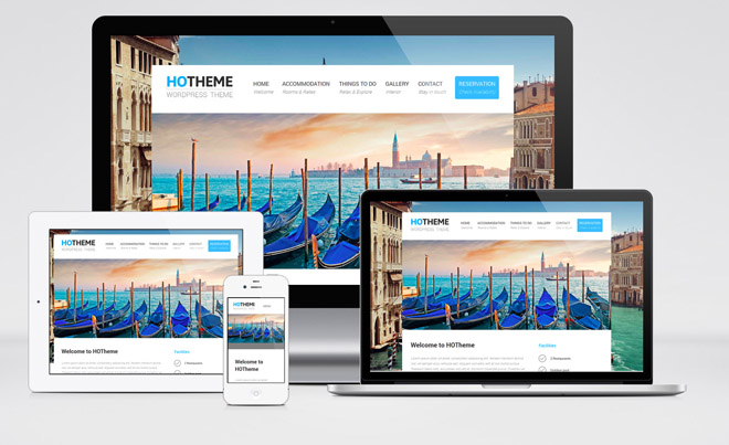 Hotheme : Free Responsive Hotel WordPress Theme