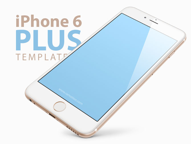 Free iPhone 6 Plus Mockup PSD