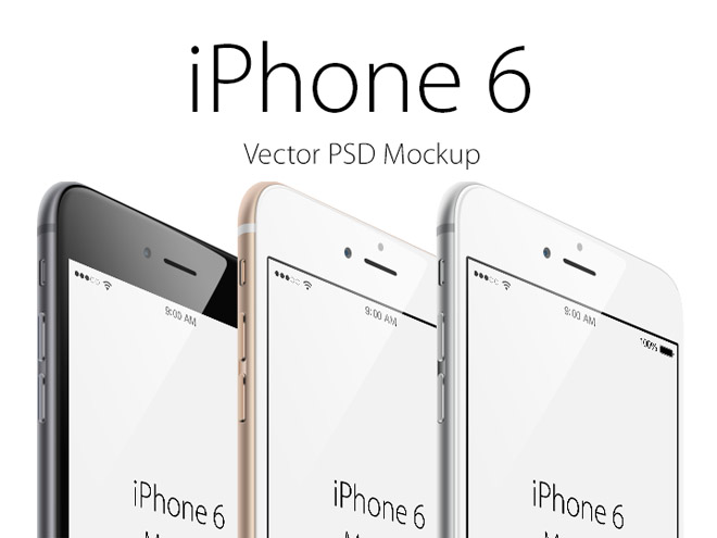 Free Vector iPhone 6 Mockup – Angled view