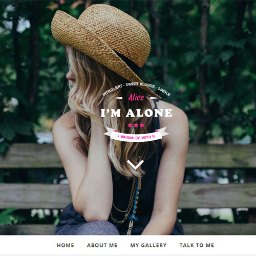 Free HTML Bootstrap template – Lonely