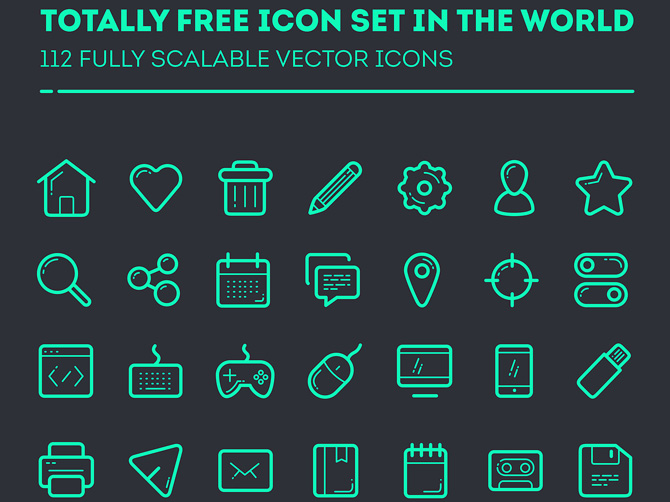 Free Vector Icon Set by Taras Shypka