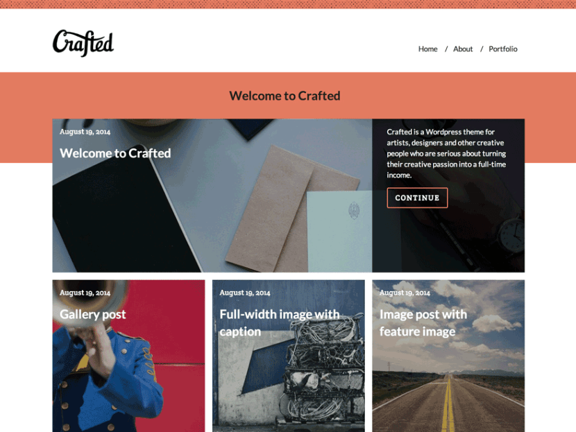 Crafted: Portfolio Theme for Artists & Designers