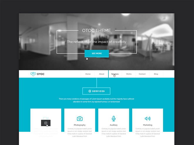 Otoc – Free Business PSD Template