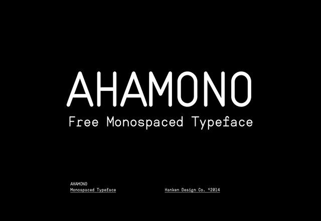 Ahamono – Free Monospaced Font