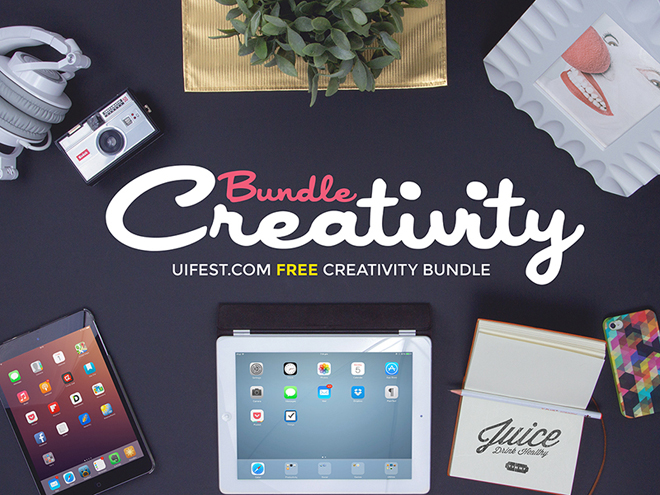 Creativity Free Bundle PSD Mockup