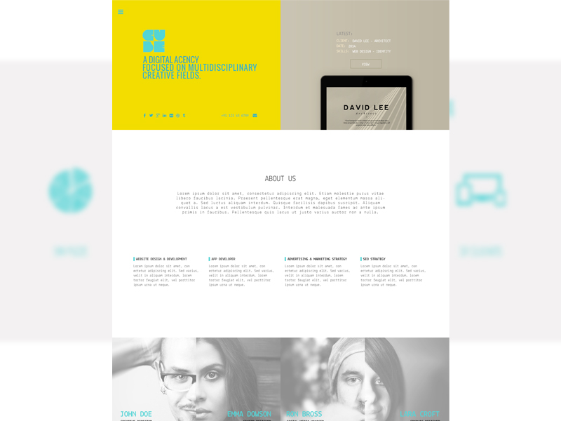Cube :  Free Personal Portfolio PSD Template