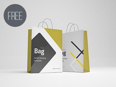 Free Photorealistic Shopping Bag Mockup