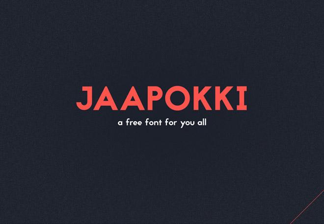Jaapokki Free Typeface