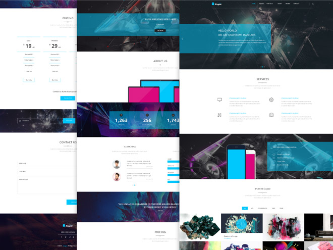 Kasper :  Creative One Page PSD Template