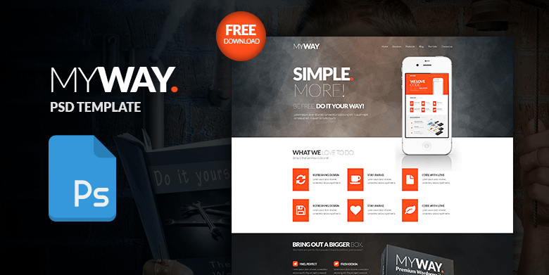 MyWay – Free PSD Web Template