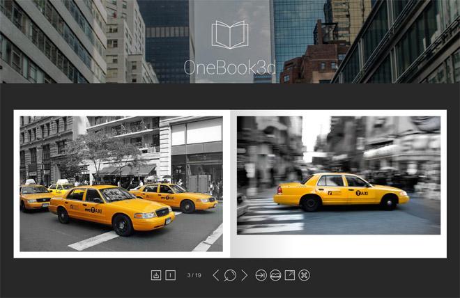 OneBook3D : jQuery Plugin for Portfolio Presentation