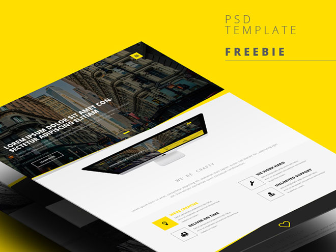 PSD Web Template by Abdullah Noman