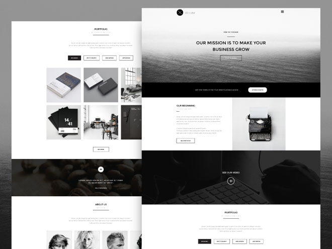 Wooster : Free Retro One Page PSD Template