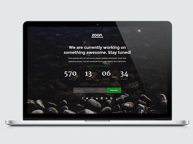 Zoon – Free Responsive Coming Soon Template