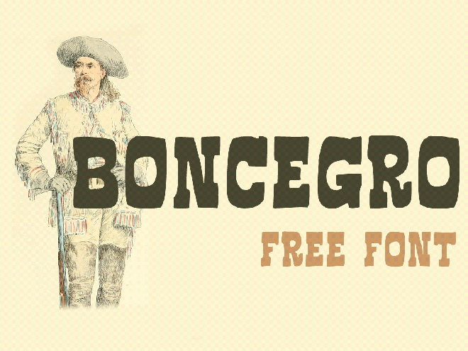 Boncegro FF Free Font
