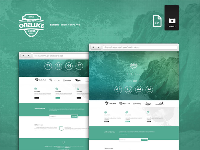 Ontario – Free Responsive Coming Soon Psd Template