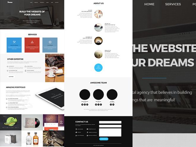 Dream : Single Page Web Template