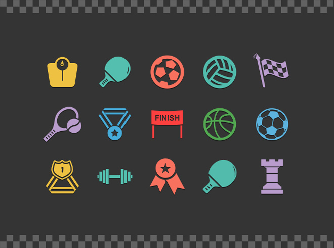 100 Free Sport vector Icons