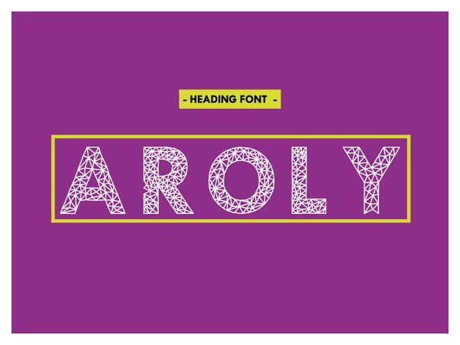 Aroly Free Polygon Typeface