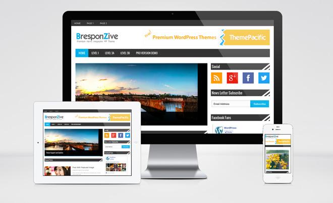 BresponZive : Free Responsive Magazine WordPress Theme