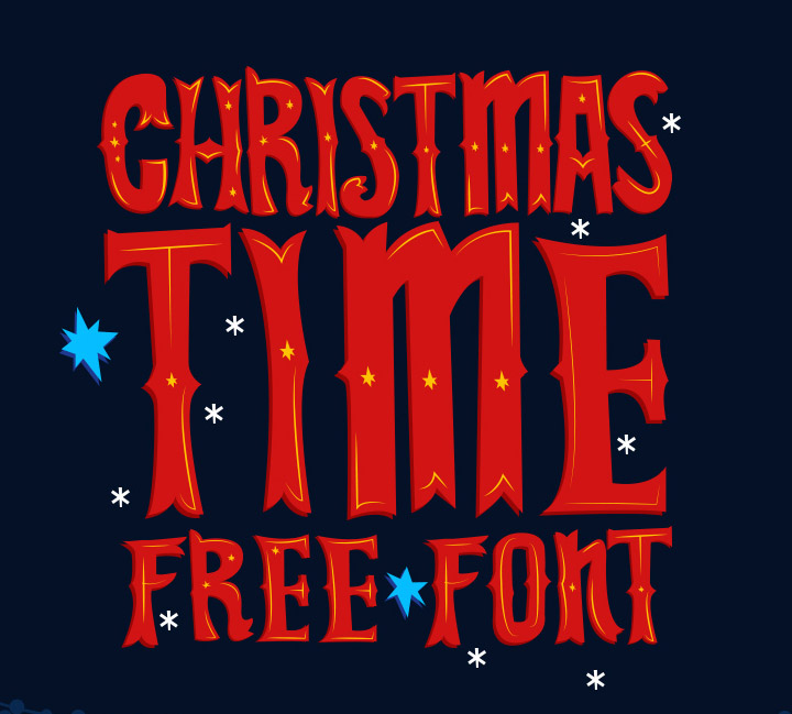 Christmas Time : Free Vector Font for Christmas Design