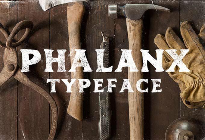Phalanx : Free vintage hand drawn font