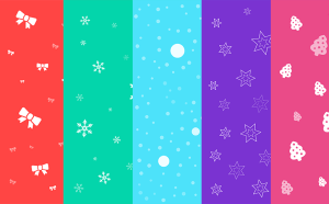 Free Colorful Christmas Backgrounds Set