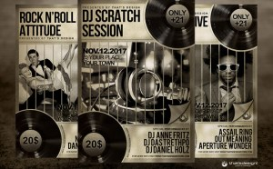 Free DJ Live Performance Flyer Template