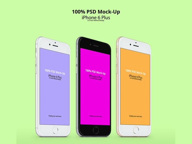 Free High Resolution iPhone 6 Plus PSD MockUp