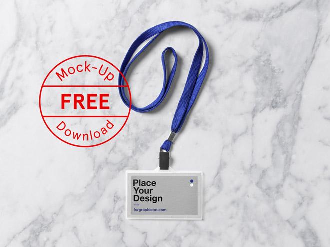 Free ID Card Holder PSD Mockup