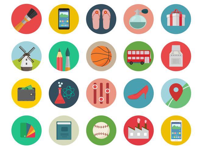 Roundicons – 60 Free Flat Coloured icons
