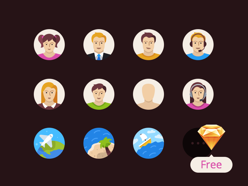 Flatflow Free Icons (Sketch)