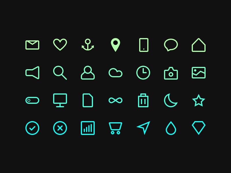 Free Sketch Outline Icon Set