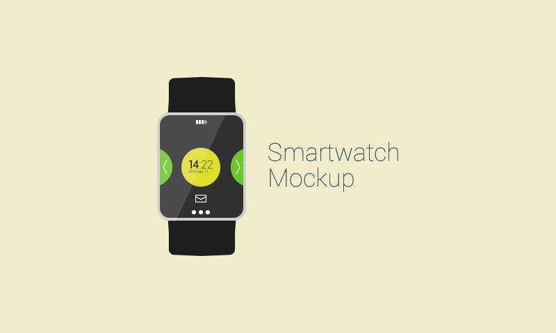 Free Flat Vector Smartwatch Mockup