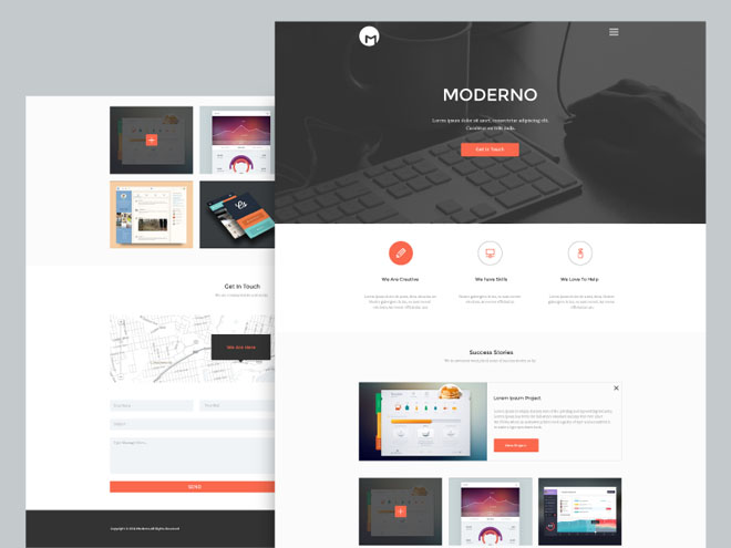 Moderno : Free Creative Simple Portfolio Page