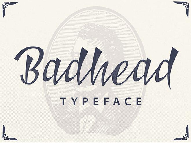 Badhead Free Typeface