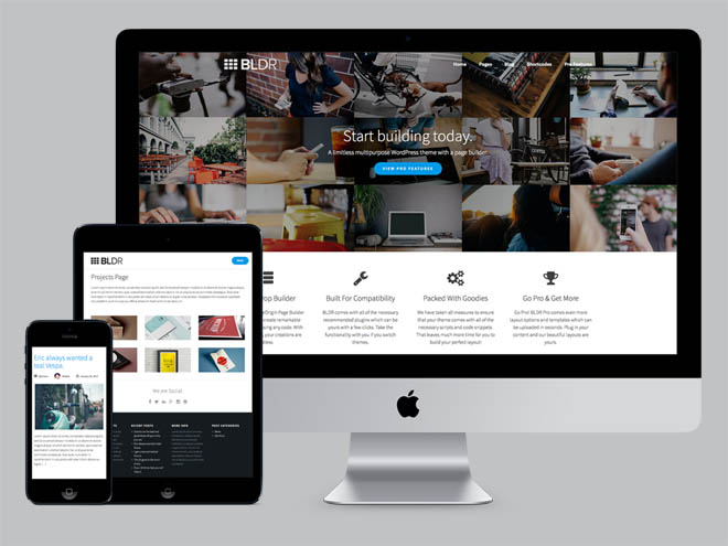 BLDR : Free Multi-purpose WordPress Theme