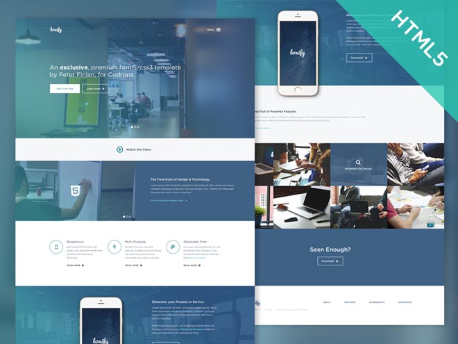 Boxify : Free Modern One Page HTML5/CSS3 Template