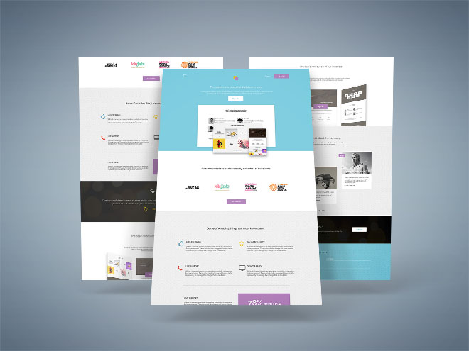 cLand – Creative Landing Page Psd Template