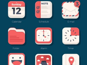 21 Free Vector Flat iOS Icons