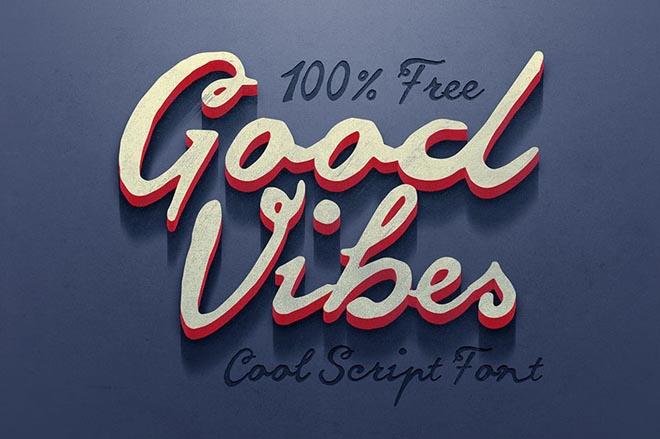 Good Vibes : Free Script Typeface