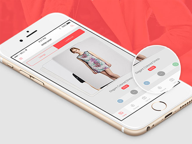 Inter Shop : Ecommerce App Design PSD