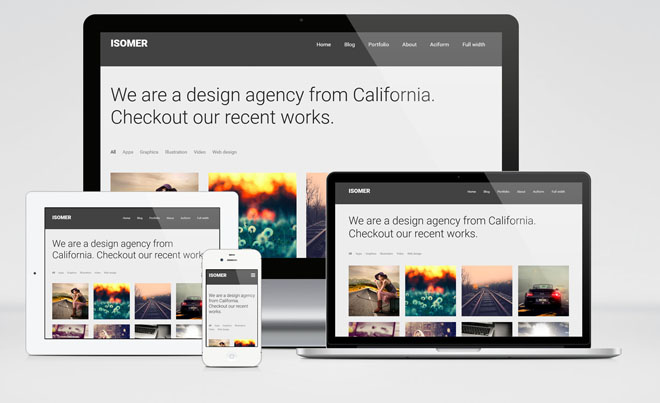 Isomer : Free Responsive Portfolio WordPress Theme