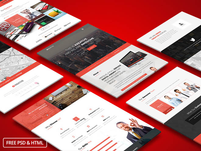 KreFolio : Onepage Business Bootstrap HTML template