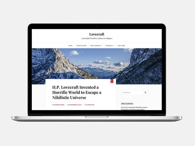 Lovecraft : Beautiful Blogger Wordpress Theme