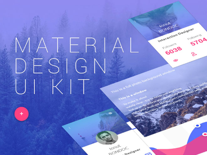 Material Design Ui Kit PSD