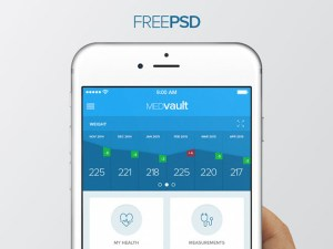 free health app ui design